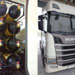 Установка дополнительных баллонов на Scania R410