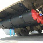 Комплект газовых баллонов 3×70 с креплениями для ПАЗ